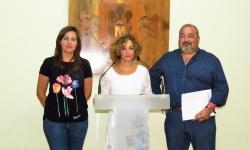 Díaz-Benito, Labián y Ramírez en su comparecencia ante los medios de comunicación
