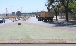 Circulación de vehículos por el tramo en obras