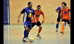 Foto del recordado Roque Cuesta de la eliminatoria de 2012 entre Manzanares y Burela