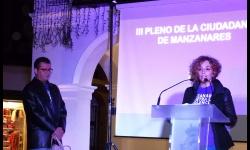 Beatriz Labián y Baudilio Álvarez en el acto de homenaje a las víctimas