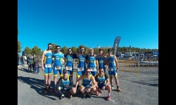 Equipo del Club de Triatlón Manzanares en el duatlón de Alcázar