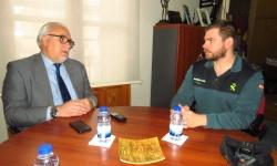 Julián Nieva con el capitán Benedet
