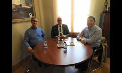 Julián Nieva junto a Raúl Alguacil y Toribio Arias