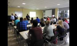 El concejal de Empleo visita el curso de prevención de riesgos laborales