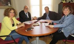 Firma convenio con Cáritas Interparroquial