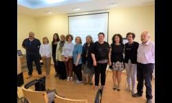 Representantes de la Comisión Permanente del Consejo Local de la Mujer en la charla