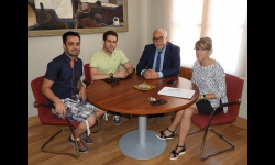 Julián Nieva y Silvia Cebrián reciben a José Antonio Cano y Javier Tomás Cabrero
