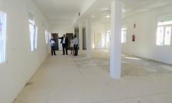 Visita a la zona interior de la futura ludoteca de la  Divina Pastora