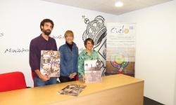 Silvia Cebrián junto a los miembros de la AMD Manuel de Falla