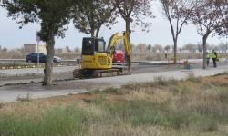Trabajos de apertura de zanjas en la calle Clavel