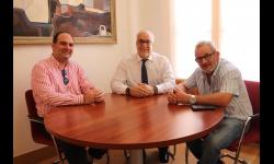 Reunión entre el alcalde CCOO y UGT provinciales
