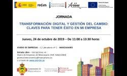 Cartel jornada 'Transformación digital y gestión del cambio'