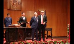 Jerónimo Romero-Nieva junto a Julián Nieva en su toma de posesión como concejal de UCIN en junio de 2019