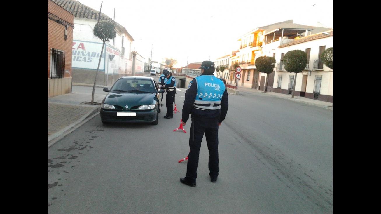 Imagen de archivo de un control de la Policía Local de Manzanares