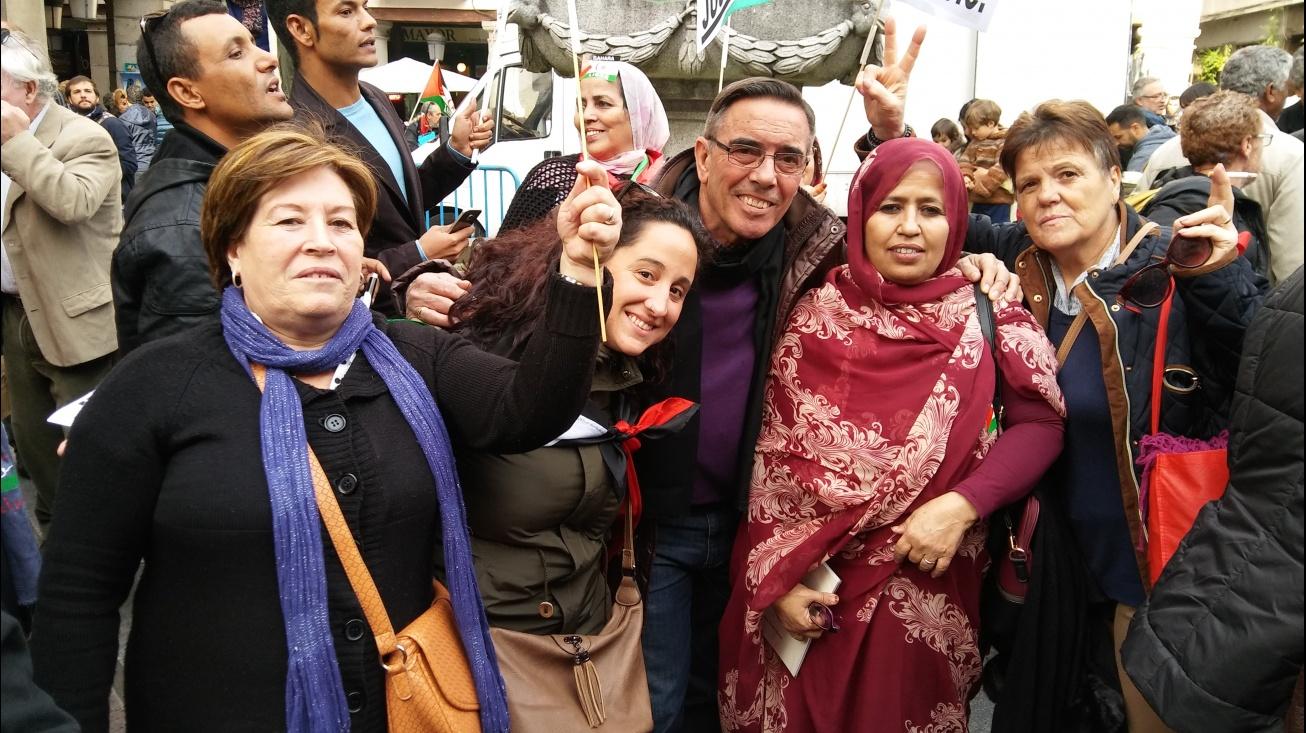 Juan Manuel del Rey en su visita a Argel