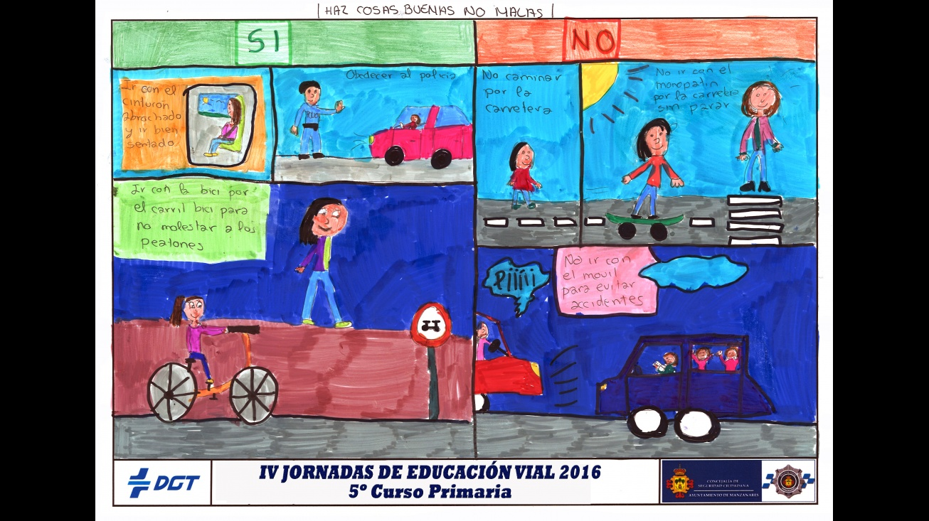 V Concurso Local de Dibujo sobre Educación Vial