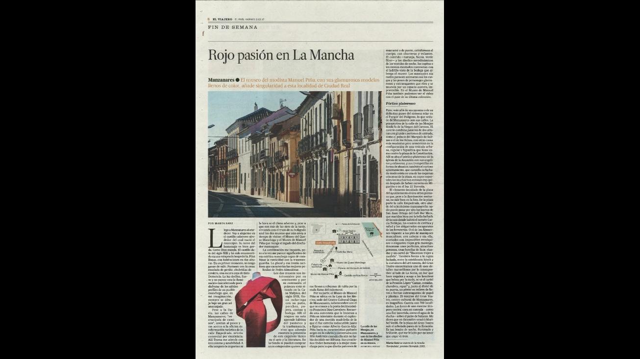 """Página publicada en """"El Viajero"""" de """"El País"""" el 3 de febrero de 2017"""