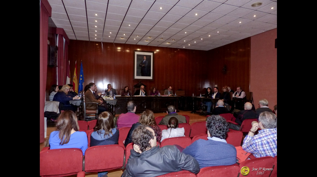 Pleno del Ayuntamiento de Manzanares correspondiente a enero de 2017