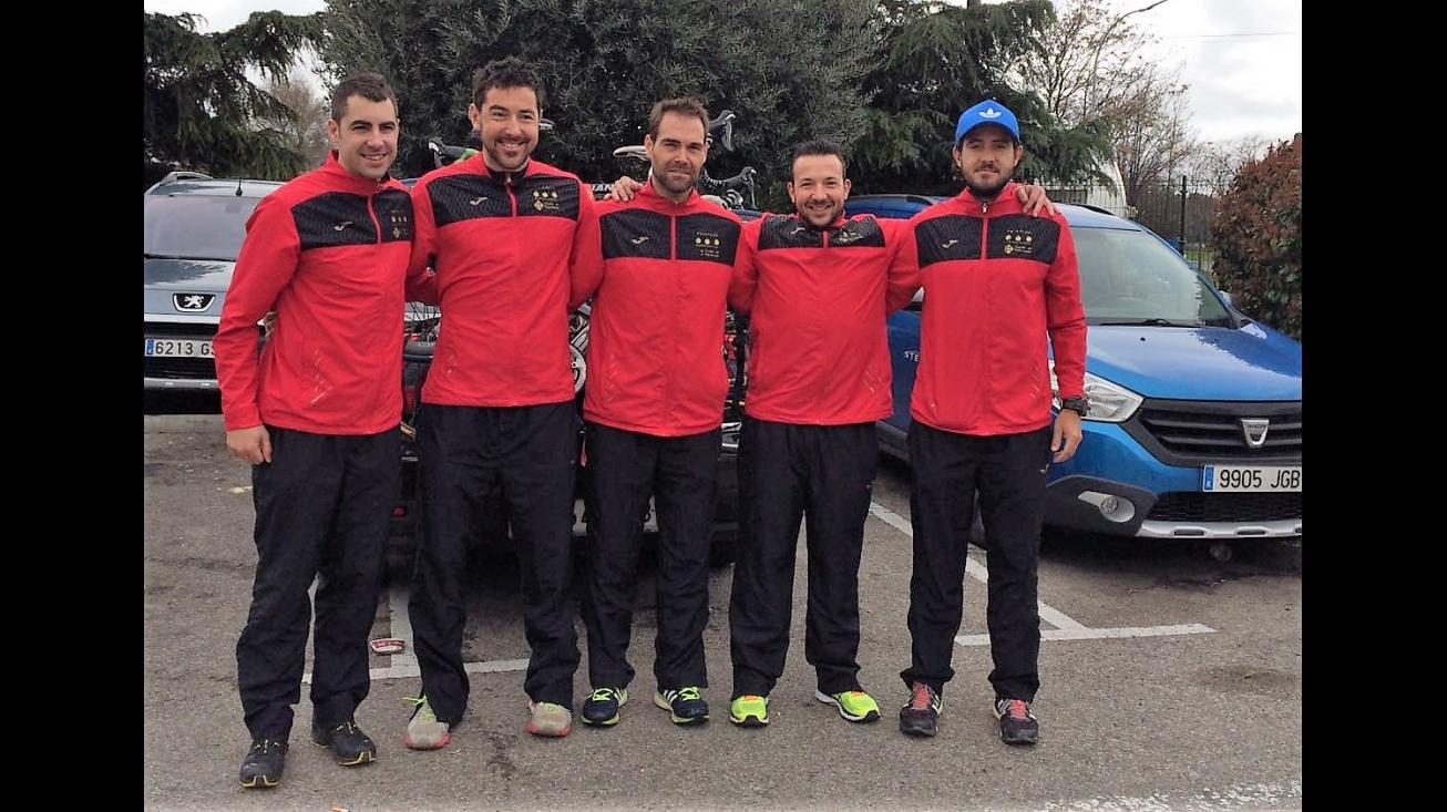 Competidores del Club de Triatlón Manzanares en Marchamalo