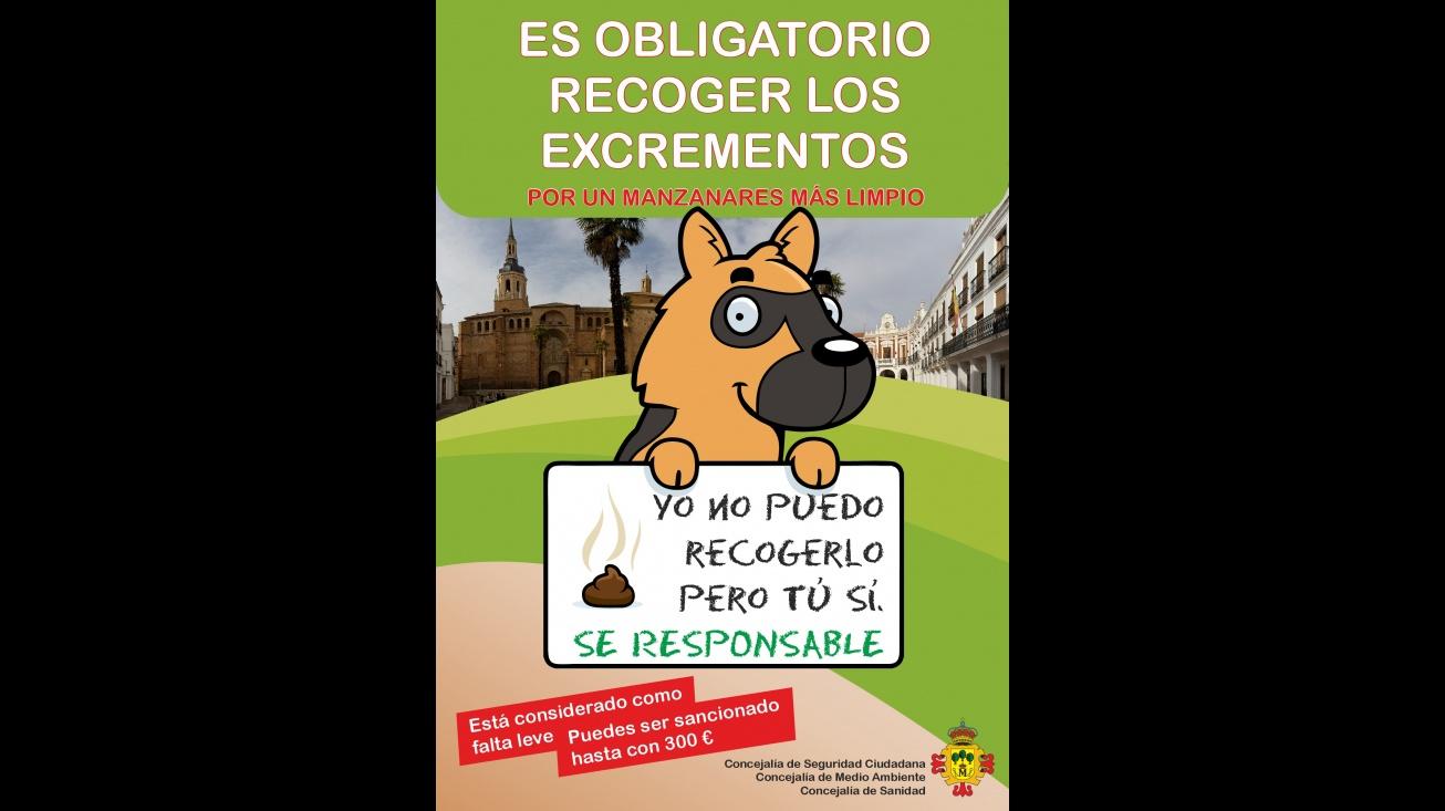 Campaña de información y concienciación sobre la obligación de recoger los excrementos de las mascotas