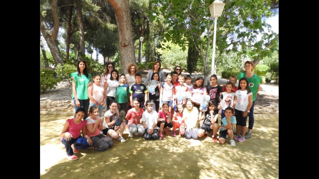 """Actividad """"Mi parque es diferente"""" con el alumnado de 4º de los centros escolares de Manzanares"""