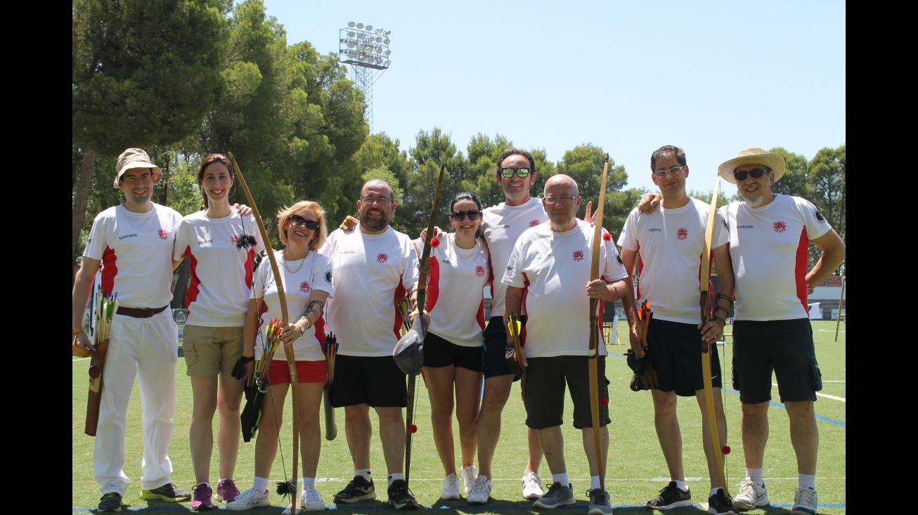 Arqueros de Manzanares participantes en la 3ª prueba de la liga interclubes