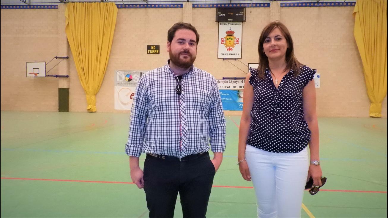 Pablo Camacho e Isabel Díaz-Benito. Concejales de deportes y obras respectivamente