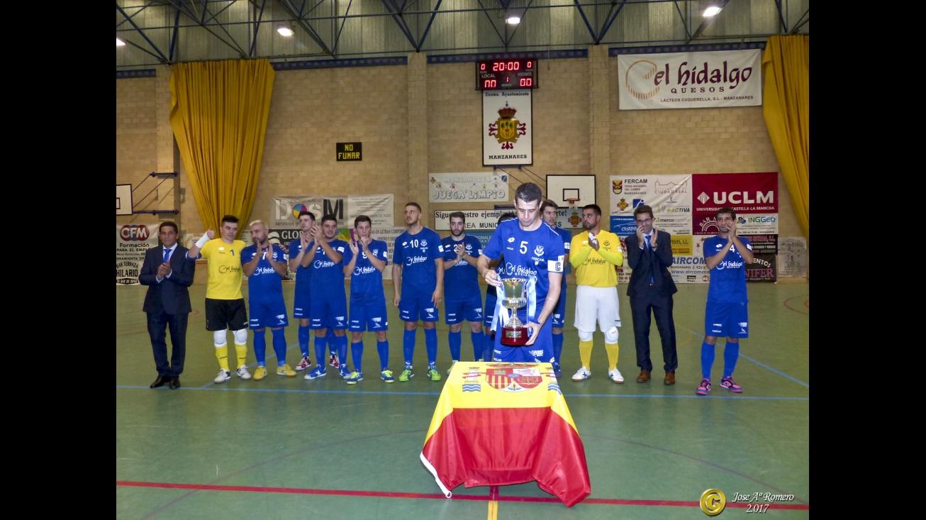 El Manzanares FS ofreció el título de campeón de 2ª B a su afición