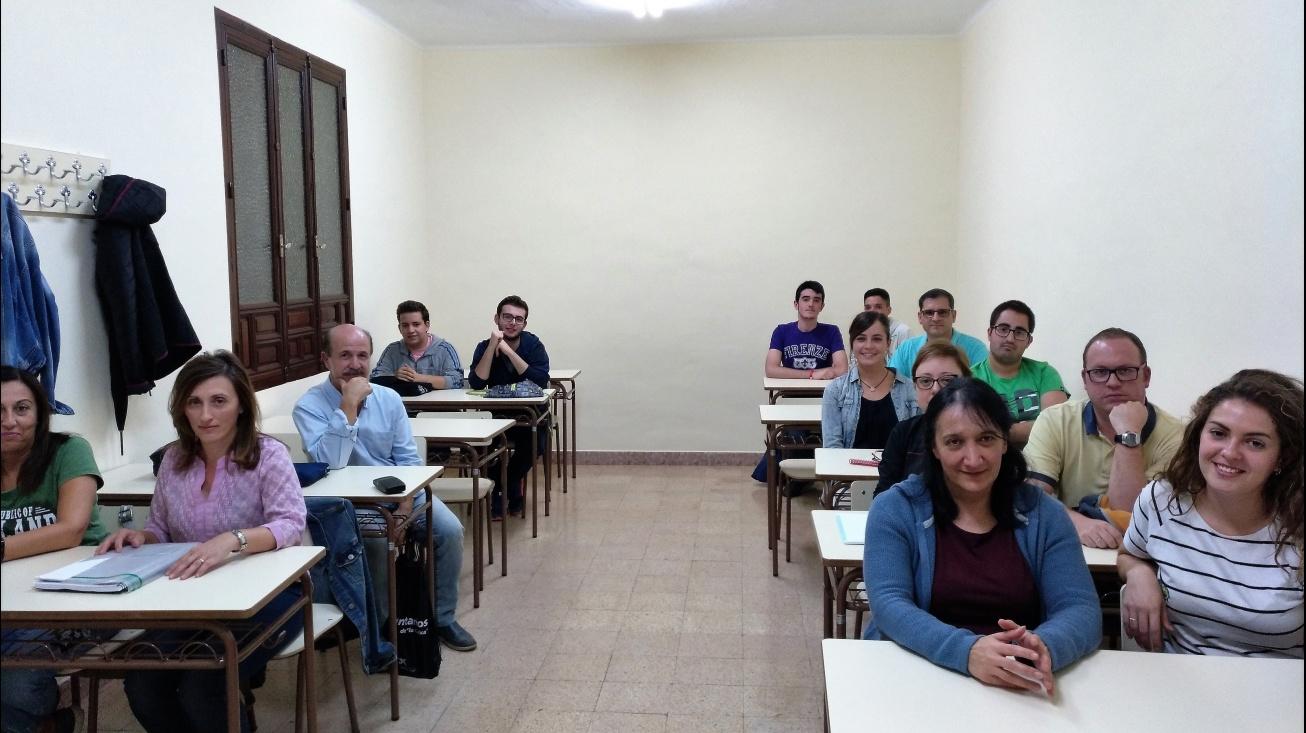 Imagen de una de los cursos de inglés que se imparten en la UP