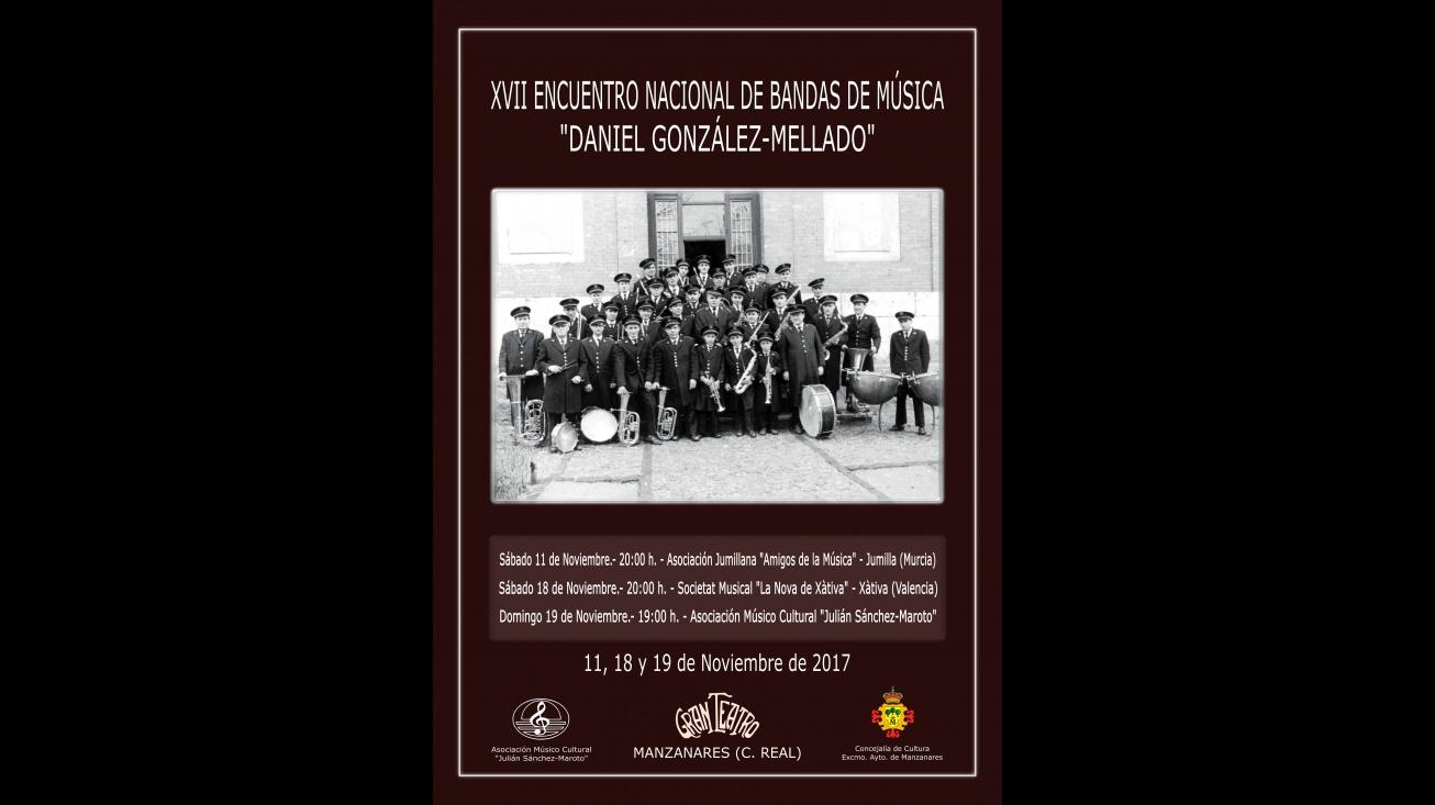 Una foto antigua de la Banda de Manzanares ilustra el cartel del encuentro