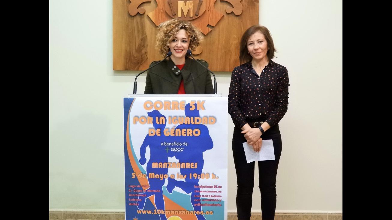 Beatriz Labián y Carmen Ruiz en la presentación de la carrera 5k