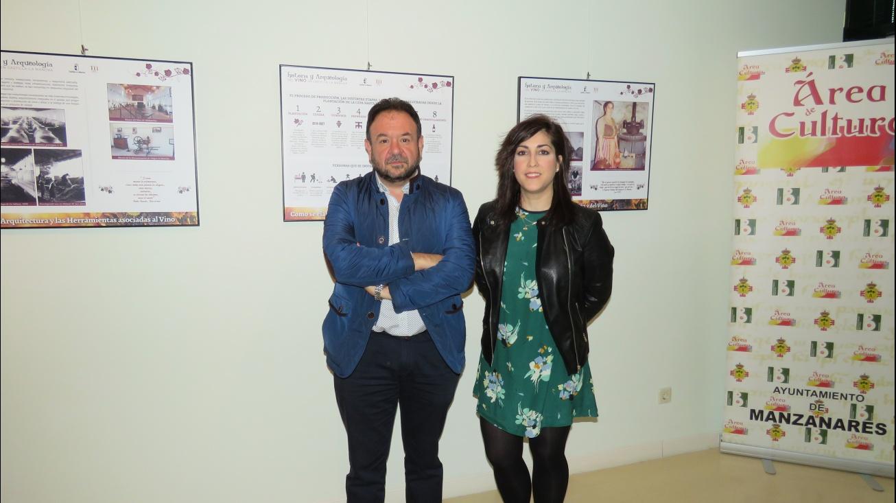 López de Pablo y De la Fuente en la inauguración de la exposición