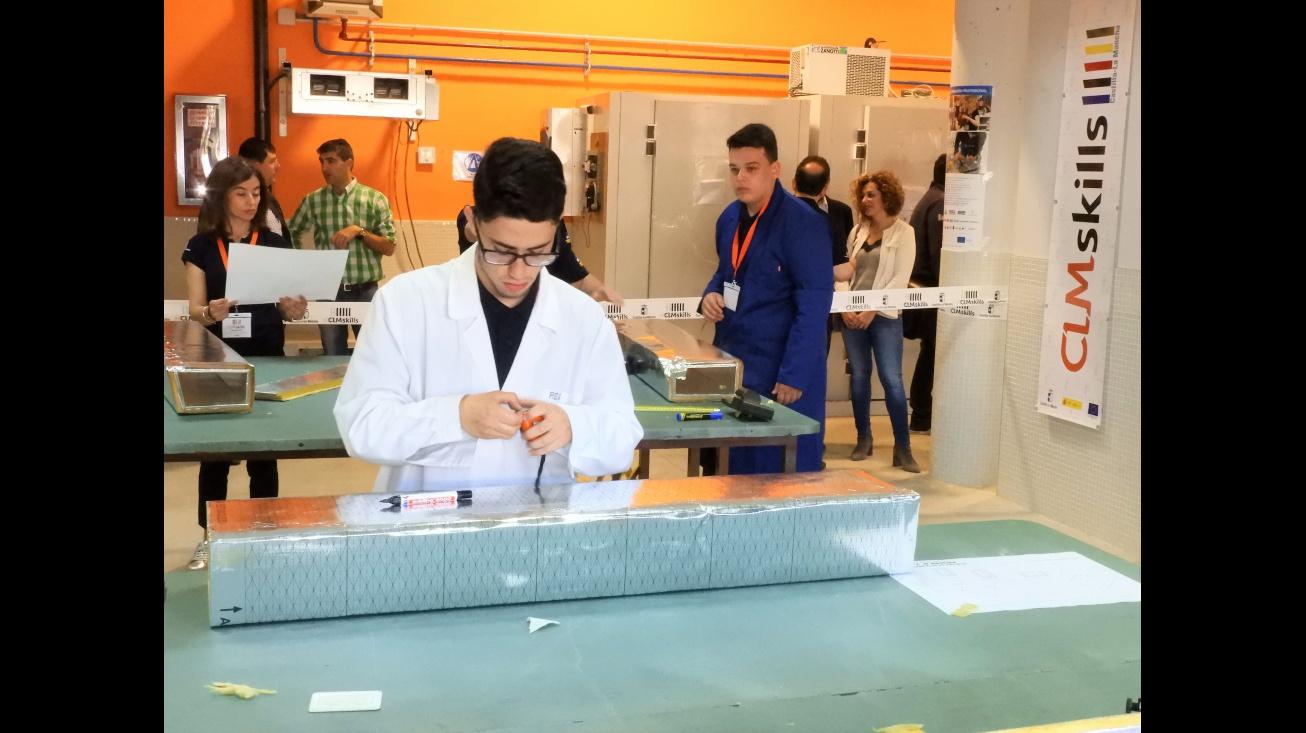 Javier Huertas durante su participación en el concurso