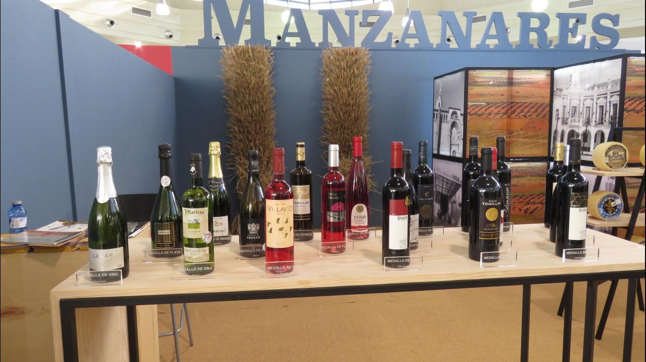 Los vinos premiados se exhiben en el stand de Manzanares en Fercam 2018
