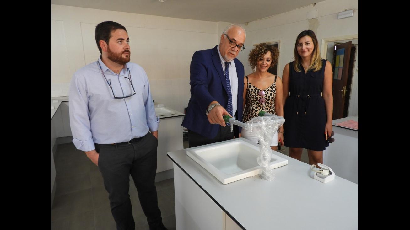 Representantes del Equipo de Gobierno visitan las obras del IES Pedro Álvarez de Sotomayor