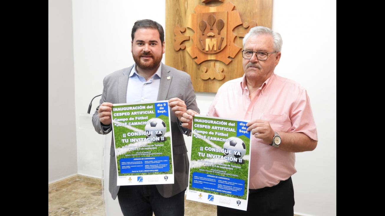 Presentación de actividades de la inauguración del nuevo césped del campo de fútbol municipal 'Jose Camacho'