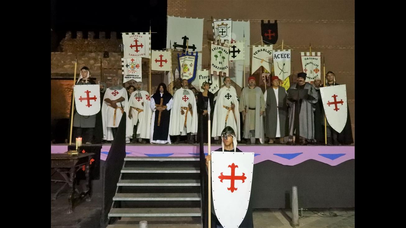 Presentación de estandartes en la inauguración de las Jornadas Medievales 2017
