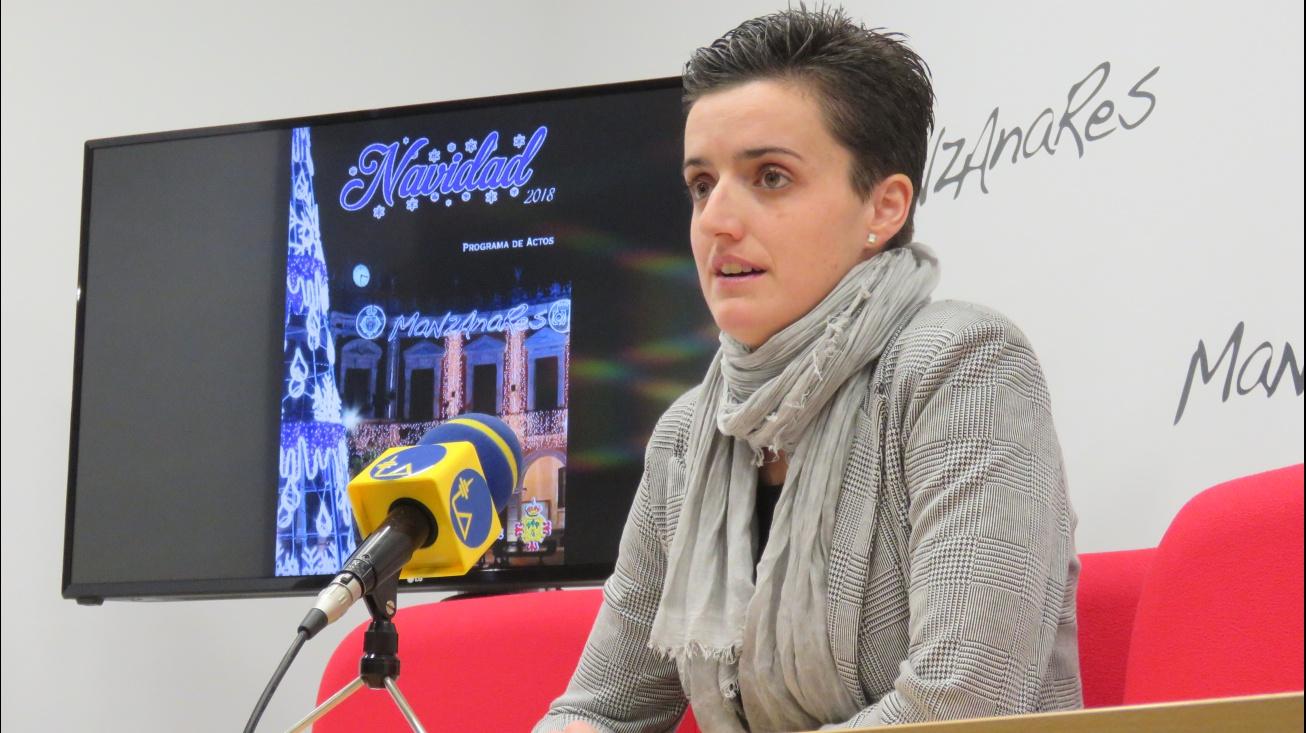 Ester Nieto-Márquez presentando el programa de actividades de la Navidad 2018-19