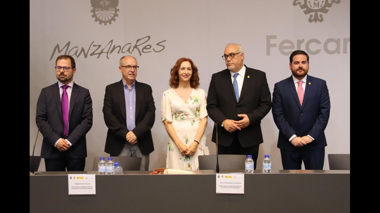 Autoridades en la inauguración de Fercam 2019