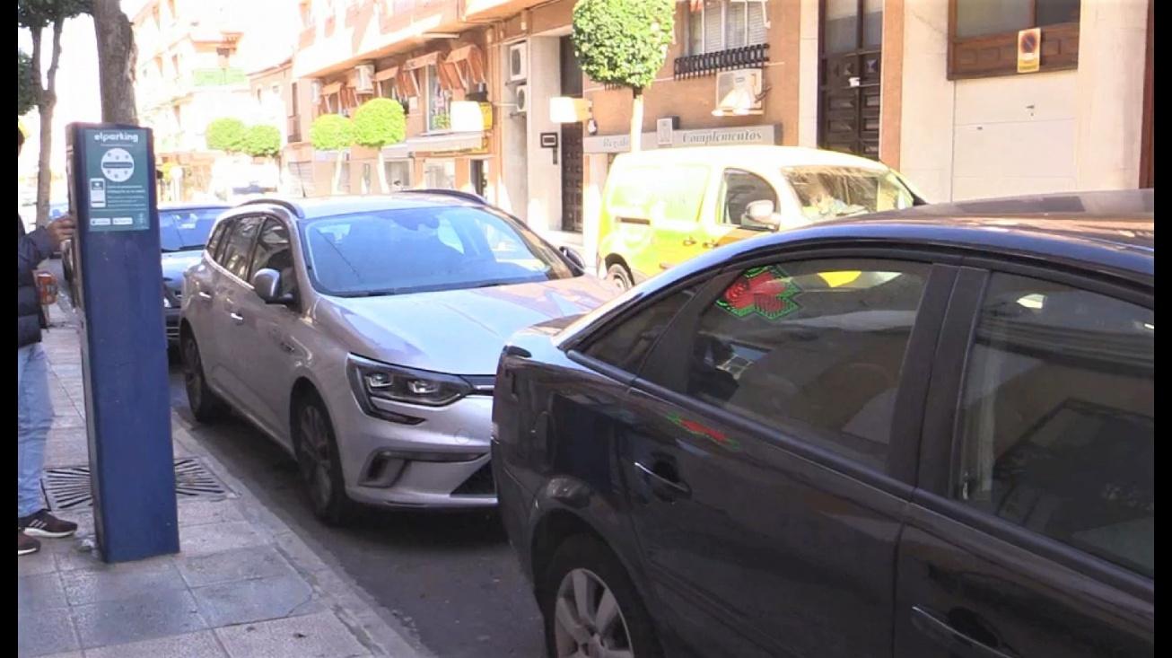 Zona de estacionamiento regulado en la calle Jesús del Perdón
